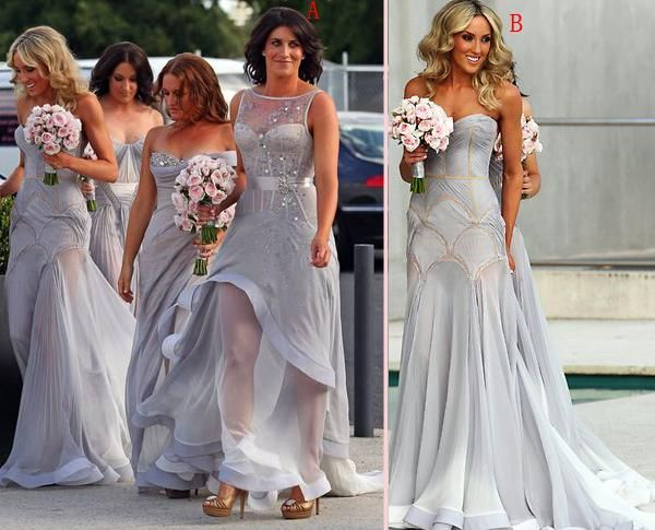 The 25 best grey bridesmaid gowns ideas on pinterest grey blue grey bridesmaid gowngray prom dresseschiffon prom gownsimple bridesmaid dress junglespirit Images