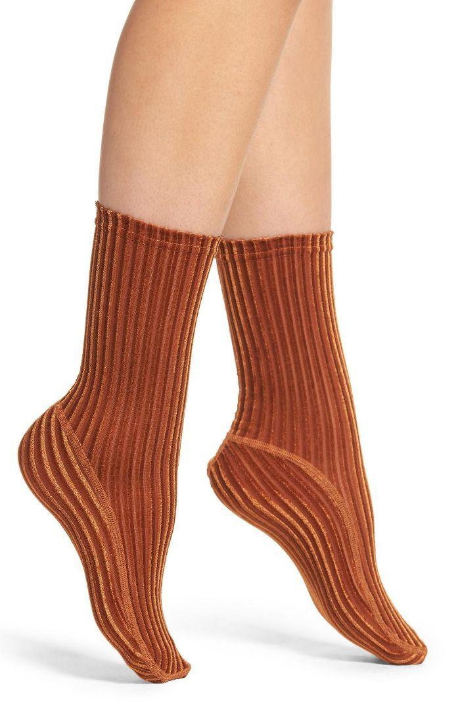 c966c362df3 Velvet Ribbed Socks