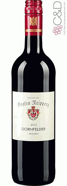 Folgen Sie diesem Link für mehr Details über den Wein: http://www.c-und-d.de/Wuerttemberg/Dornfelder-Trocken-2013-Weingut-Graf-Neipperg_36331.html?utm_source=36331&utm_medium=Link&utm_campaign=Pinterest&actid=453&refid=43 | #wine #redwine #wein #rotwein #württemberg #deutschland #36331