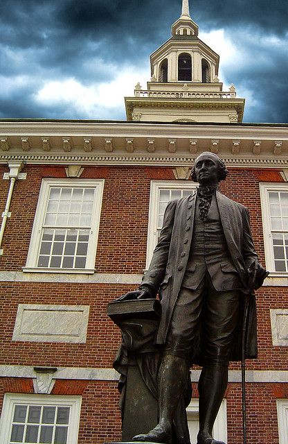 Statue of George Washington outside of Independence Hall, Philadelphia  by Dave Hanvey