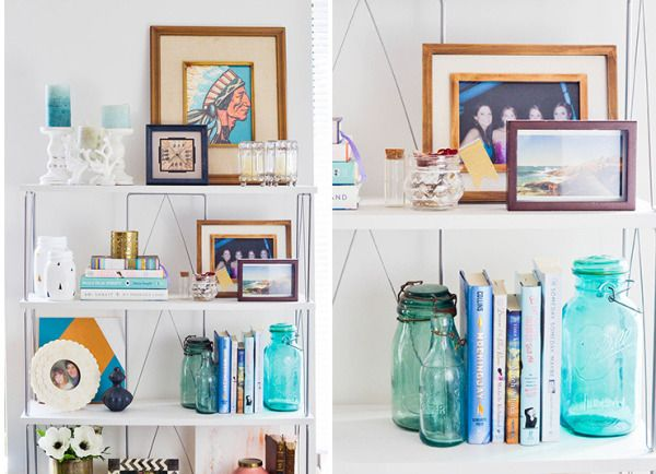 Bookshelf inspiration: http://www.stylemepretty.com/living/2015/04/09/5-steps-to-the-perfect-bookshelf/ | Photography: Advice from a 20 Something - http://advicefromatwentysomething.com/