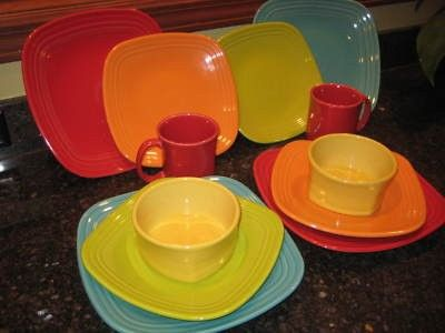 Square Fiesta® Dinnerware in a rainbow of colors   WorthPoint & 140 best Fiesta® / Homer Laughlin China: Square Fiesta® images on ...