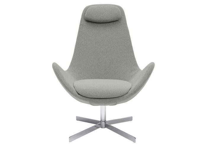 Egg Chair Stof.Triv Sunne Hoog Fauteuil Stof Vayla Zilvergrijs Furniture
