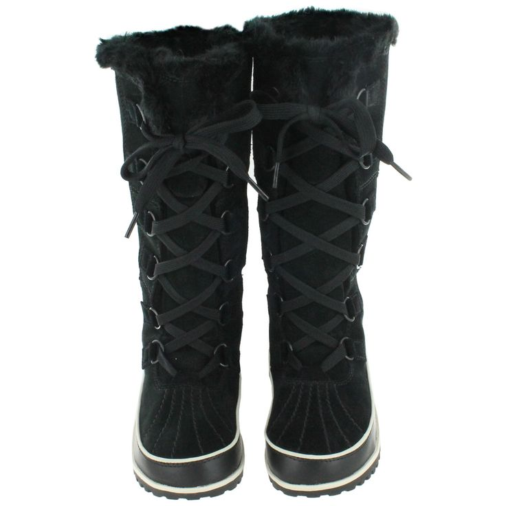 Sorel Women's TIVOLI HIGH II black winter boots 1553251-010