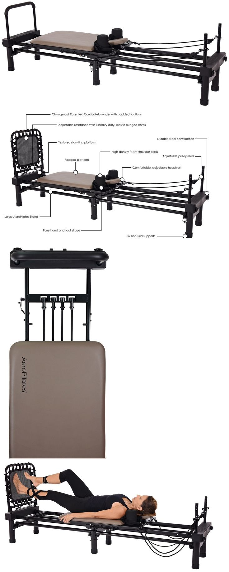 Pilates Tables 179807: Stamina Aeropilates Reformer 651 Pilates Exercise With Stand And Cardio Rebounder -> BUY IT NOW ONLY: $479 on eBay!