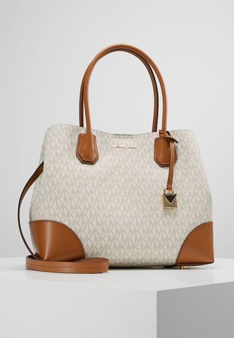 7a7588beaff MICHAEL Michael Kors MERCER GALLERY CENTER ZIP TOTE - Handbag - beige -  Zalando.co