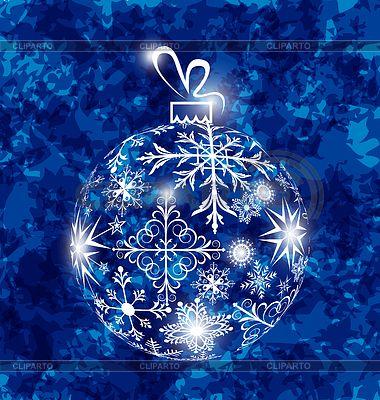 Рождественский бал в снежинки на гранж | Векторный клипарт | ID 4487721
