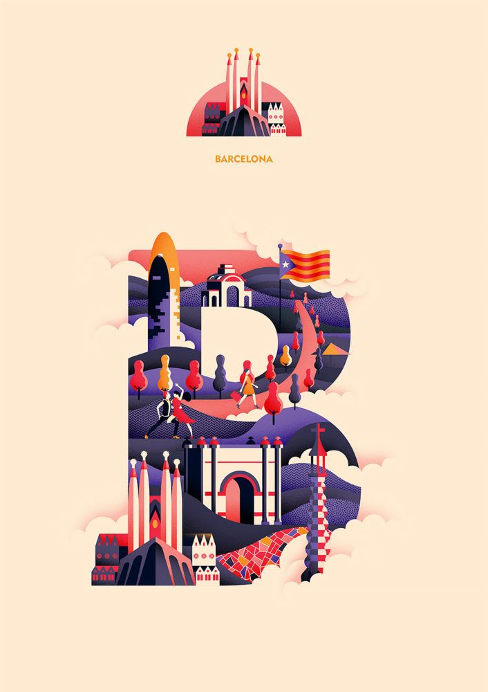 Love this self-initiated project featuring typographic illustrations, created by…