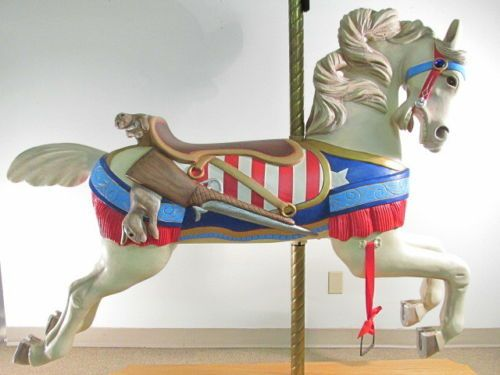 EARLY-20TH-CENTURY-C-W-PARKER-WOOD-CAROUSEL-HORSE