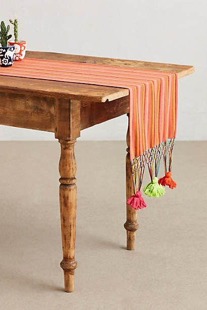 Neon Tassel Table Runner