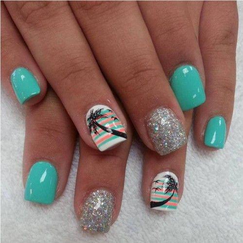 summer acrylic nails ideas