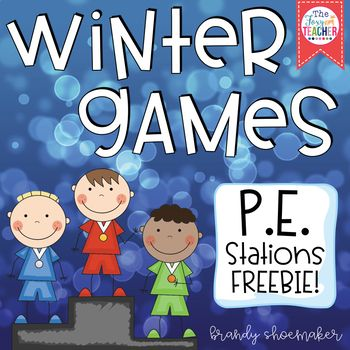 Winter Olympics 2018 P.E. Stations! Set up easy Olympic-themed physical education stations in your P.E. classroom with these task cards! Set includes 5 full page color task cards/station signs with 2 pages of station directions and materials list. Visual cues help struggling readers remember