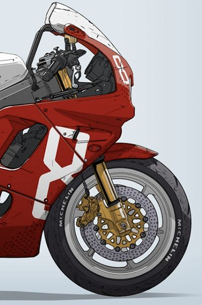 'Garage Prospects'; illustrated bikes by Ian Galvin from Chicago. Shirts and prints available here.