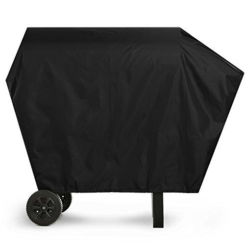 Grill Cover - 58-Inch 600D Durable Heavy Duty Waterproof BBQ Grill Cover for Weber,Brinkmann,Holland, Jenn Air and Char Broil  Wide Compatibility - Measures:58 x 24 x 48 inches - fits most brands like Weber, Holland, Jenn Air, Brinkmann and Char Broil  Duty Durable Material (600D) - Flame resistant, weather resistant,anti-wind, dust-proof, waterproof, anti-UV included zippered storage bag  Durable and Safety - Provided 2 Drawstring (on the bottom secures) Protect your Barbecue cover wi...