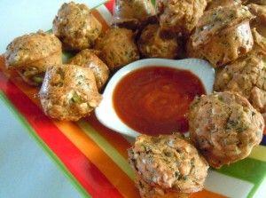 Mini Pizza Muffins with Broccoli Recipe - Party - Vegan in the Freezer