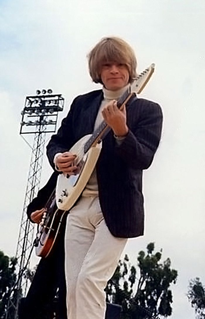 Brian Jones and Vox Teardrop guitar