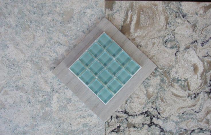 Cambria quartz countertops: montgomery on left, praa sands on right