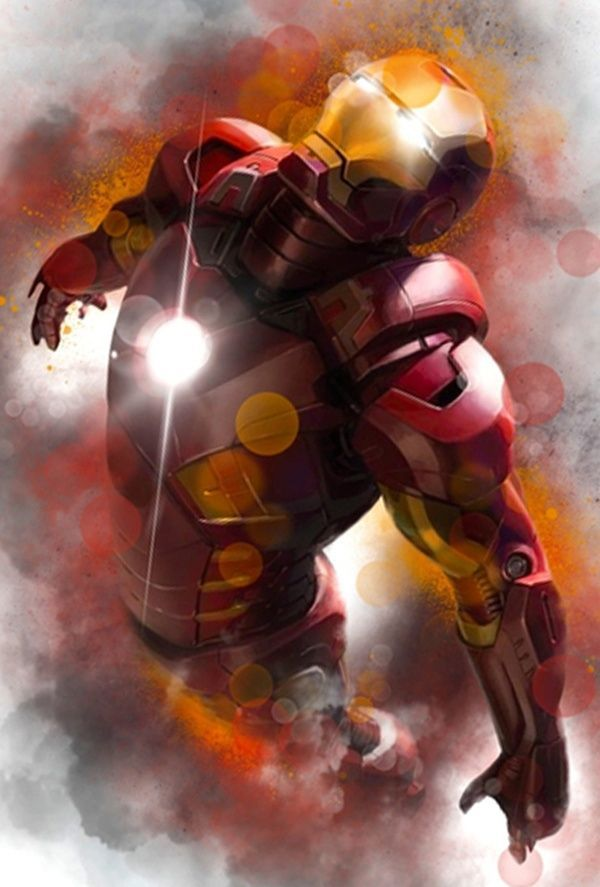 it look like relestic ironman where it like 3D and effective for poster or anything. i think i realy stand out with the red and black-ish back groud colour