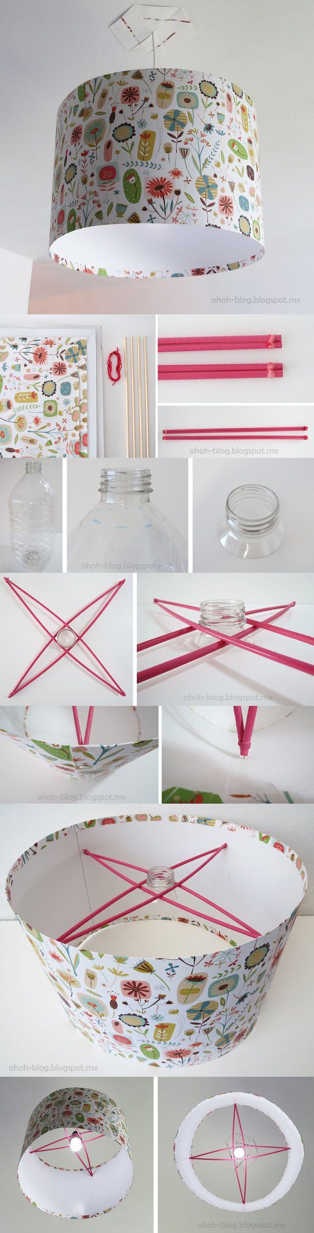 Sencilla lámpara reciclada: