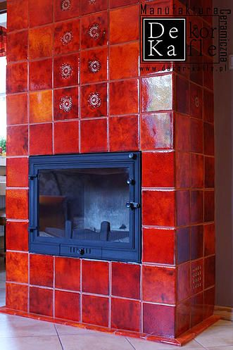 HandMade  Fireplace Tiles from DeKa Tiles Studio