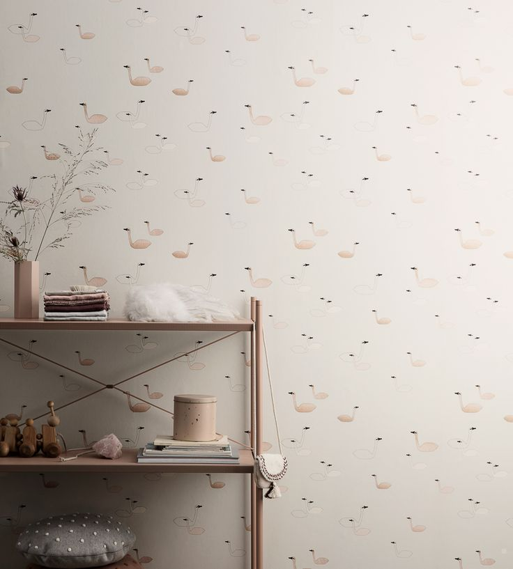 How To Style Nurseries | Swan Wallpaper by Ferm Living | Jane Clayton
