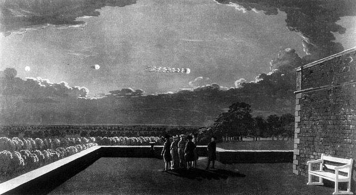10 septembrie 1798, Marea Britanie, Almnick (Northumberland) Către ore 20,40, un obiect cilindric a ieşit deodată dintr-un nor.