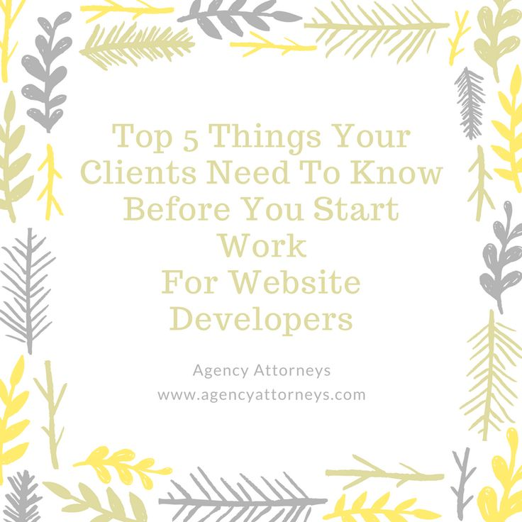If you are a website developer, here are the top 5 things your clients need to know before you start work. This article will help you reduce the likelihood of disputes with clients!