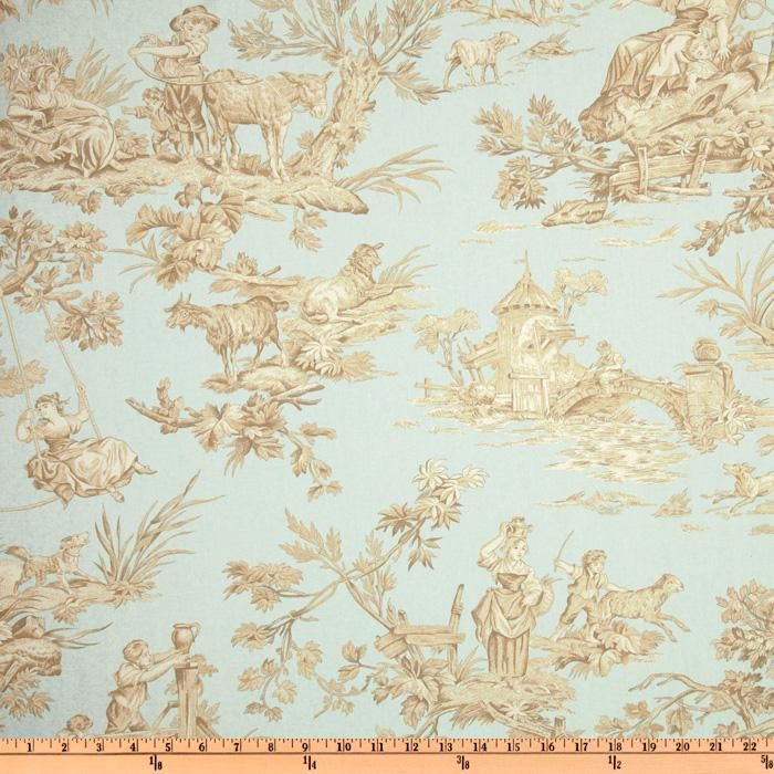 Serenity Blue Toile Fabric Pinterest Toile And Serenity