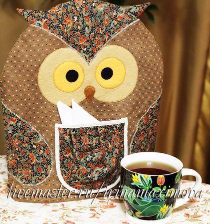 Грелка на чайник `Совушка`. Ручная работа.
