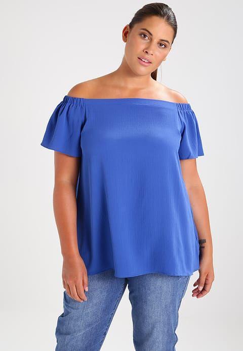 New Look Curves PLAIN - Bluzka - blue - Zalando.pl