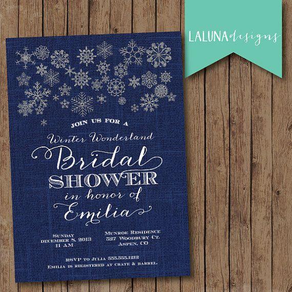 Winter Wonderland Invitation, Winter Wonderland Bridal Shower, Winter Baby Shower, Winter Invitation, Snowflake Invitation, DIY Printable