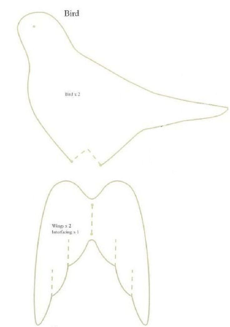 Tilda bird pattern