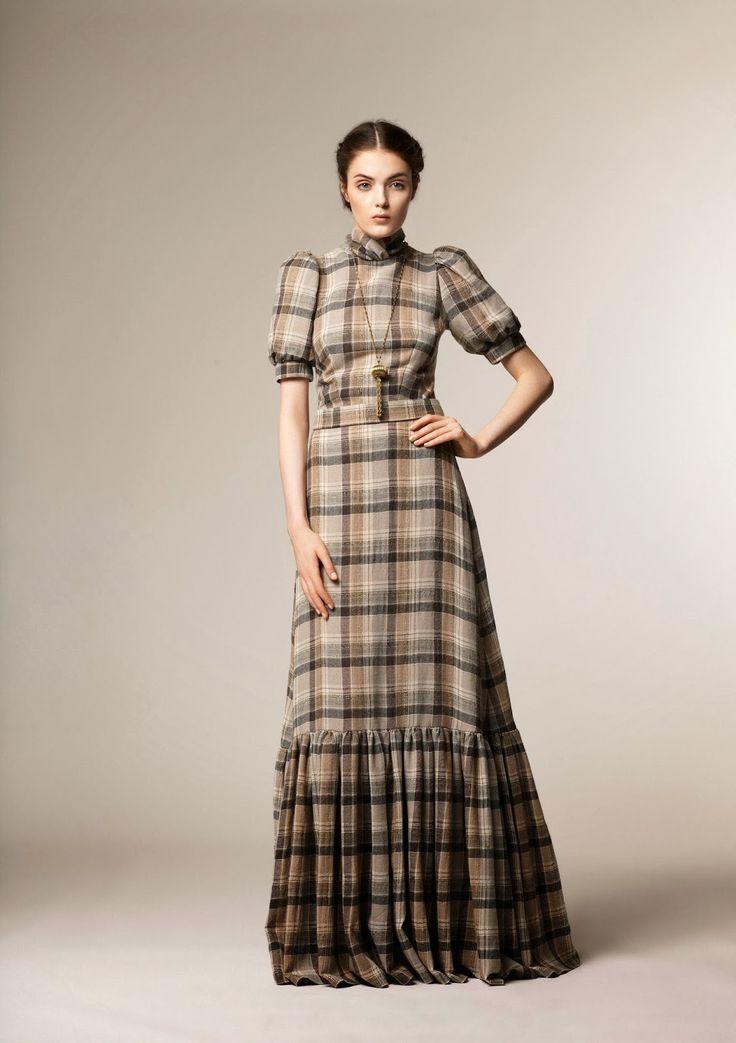 Красивая мода зима 2013 коллекция скромная A La Russe |  Скромность