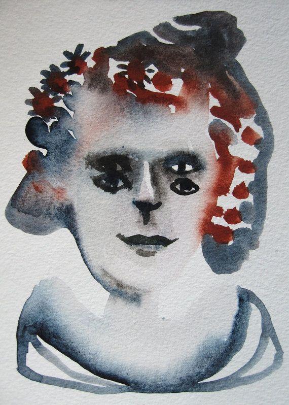 Watercolour double eyed by METTEJOENSEN on Etsy, kr300.00