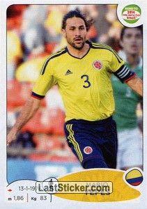 Sticker 174: Mario Yepes - Panini Road to 2014 FIFA World Cup Brazil - laststicker.com