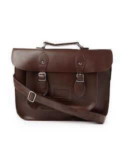 the idle man leather look satchel for men
