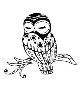 Inkadinkado Owl Stamp - Would make a pretty tattoo