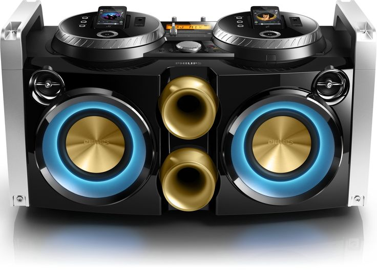 Philips FWP3200D Mini Hi-Fi System Mix like a DJ 30-pin dock 100 - 240V AC, 50/60Hz for iPod, iPhone USB. Dual rotatable dock for playing & charging your iPod/iPhone, Channel faders for swapping playback between 2 iPods/iPhones, USB Direct for easy MP3 music playback, MP3 Link for portable music playback. MAX Sound for instant power boost, Digital Sound Control for optimized music style settings, 300W RMS total output power. Simple setup with any Philips party machines, Flexible placement...