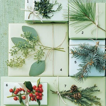 natural decorations for gift wrapping