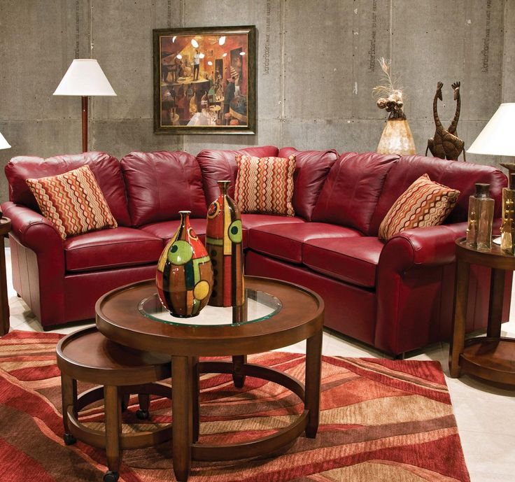 Lochlan Leather Sectional By England