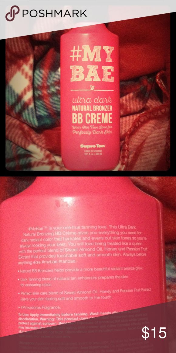 #MYBAE BB Creme Tanning Lotion Brand New!! Never been used!! Ultra dark natural bronzer bb creme. Does not contain parabens or DHA. Supre Tan Other