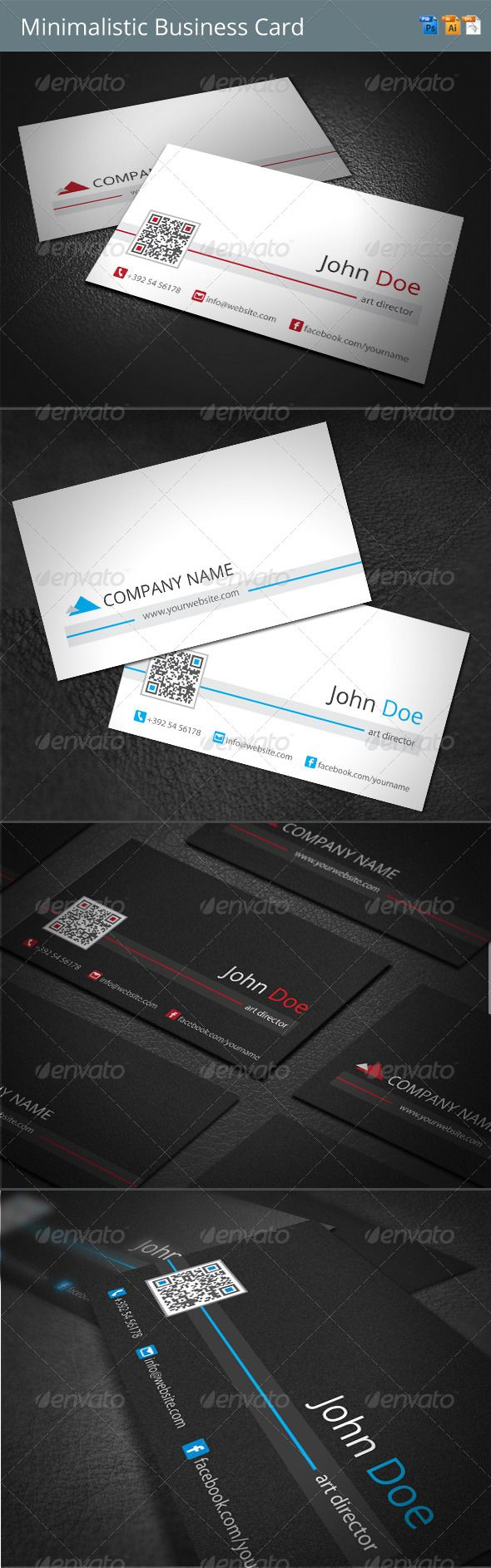 117 best Business cards PSD with QR code images on Pinterest | Qr ...