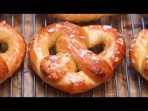Homemade Soft Pretzels (Easy Recipe: No-Knead, No Machine) - Gemma's Bigger Bolder Baking Ep 87 - YouTube