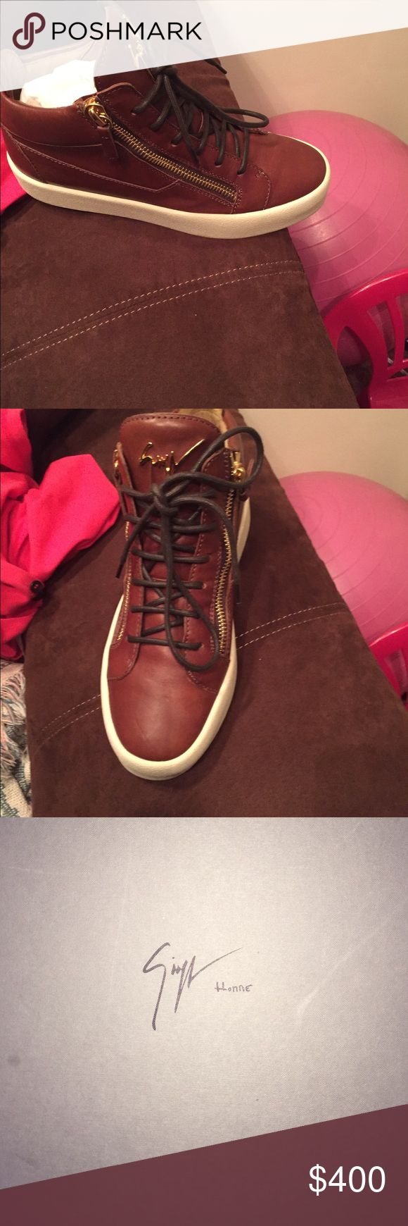 Giuseppe zanotti Brown and cream worn 1 time guisseppe Shoes Sneakers