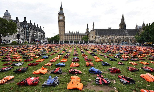 Anger refugee charity protest allowed to take over Parliament Square #DailyMail