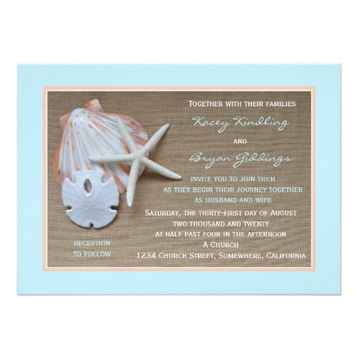17 Best ideas about Beach Theme Wedding Invitations – Cheap Beach Themed Wedding Invitations