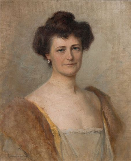 Zygmunt Ajdukiewicz (1861 - 1917) Portret Marii J. Harajewicz - córki Henryka…