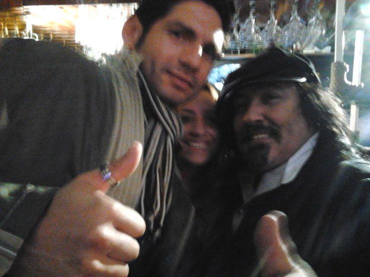 Jano Cid, junto a Negro Piñera.