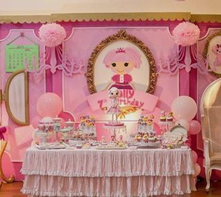 Festa Lalaloopsy toda pink! Fonte @karaspartyideas  #kikidsparty