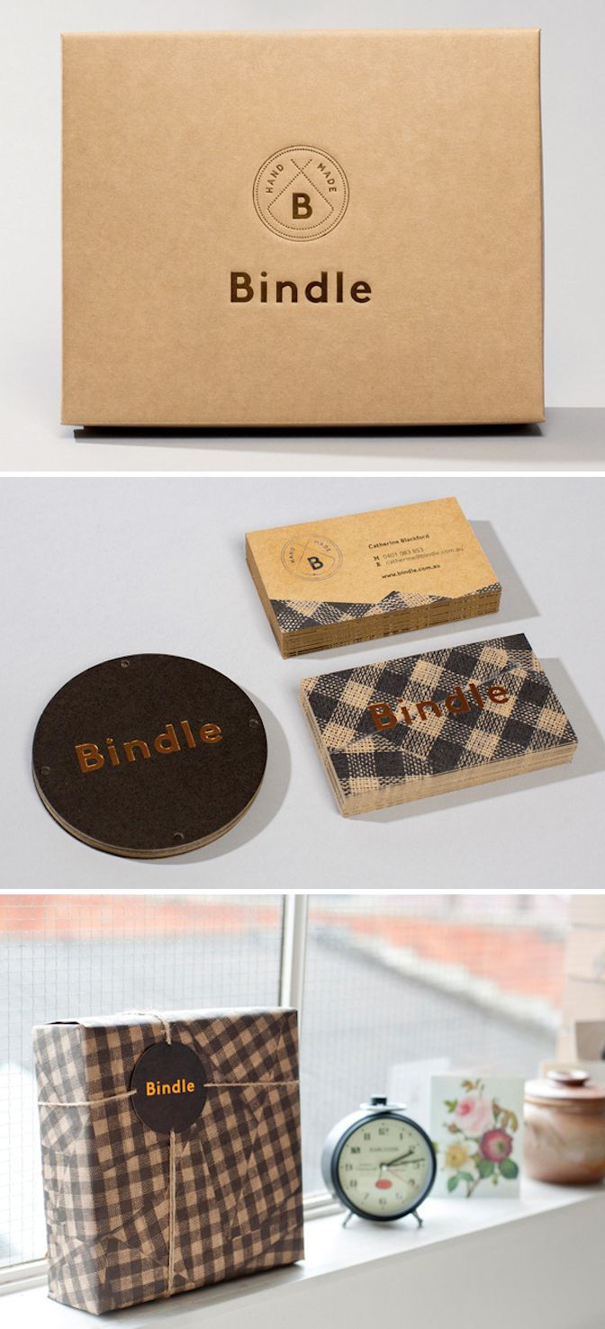 branding of bindle by swear words. well done. via bp&o.   from Paper & Type